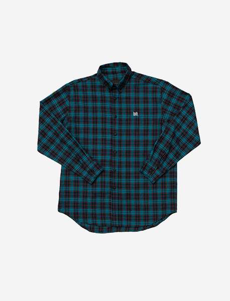 TAGGING CHECK SHIRTS - BLUE brownbreath
