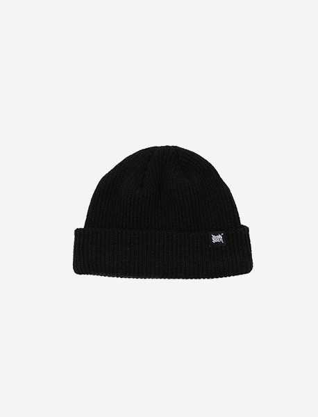 TAGGING SHORT BEANIE - BLACK brownbreath