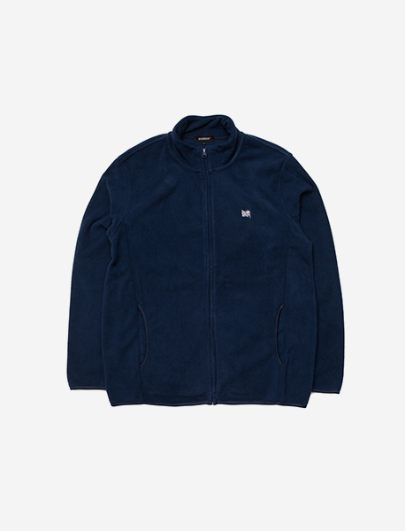 TAGGING FLEECE JACKET - NAVY brownbreath