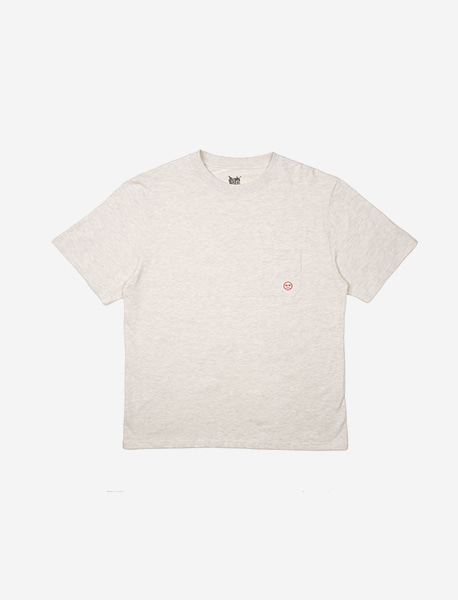 BB POCKET TEE - ASH brownbreath