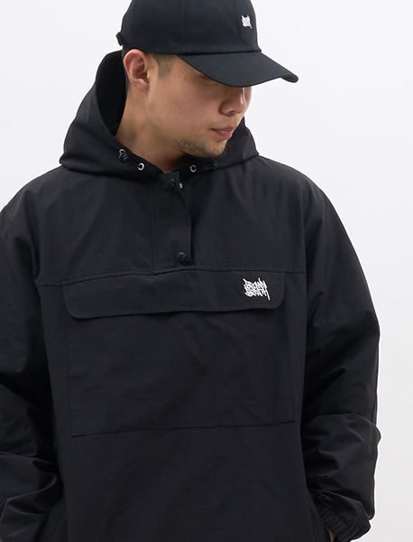 TAGGING ANORAK - BLACK brownbreath