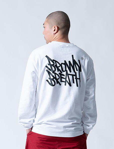 TAGGING LONGSLEEVE - WHITE brownbreath
