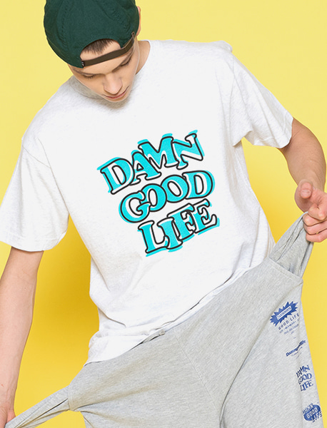 DAMNGOODLIFE TEE - ASH brownbreath